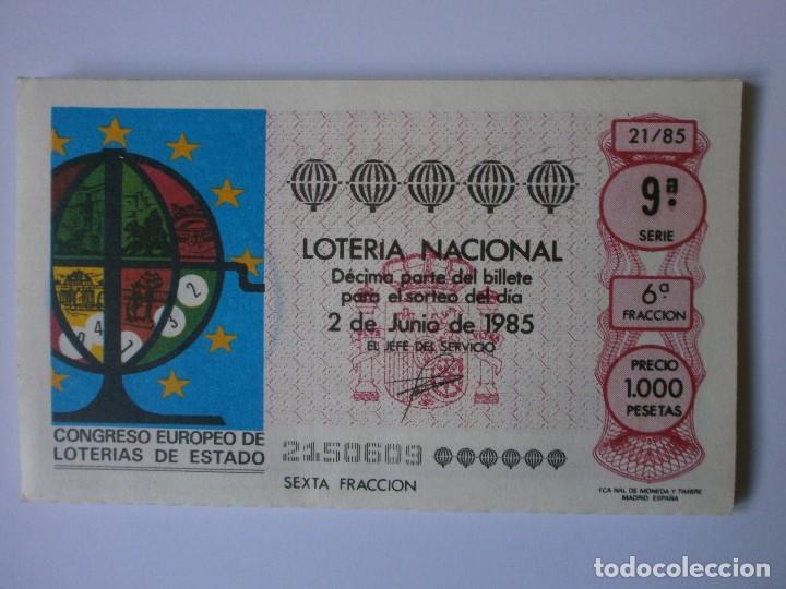 Lotería Nacional: SERIE COMPLETA LOTERIA NACIONAL CONGRESO EUROPEO 1985 - Foto 2 - 127185803