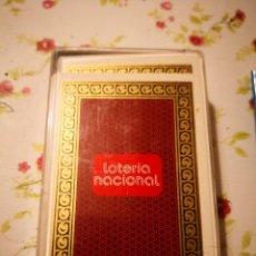 Lotería Nacional: NAIPES CARTAS LOTERIA NACIONAL 11 OCTUBRE 1975 BARAJA POKER COLOR BURDEOS 9,5X13,5X2CMS. Lote 127597843
