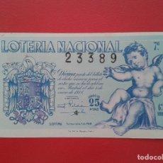 Lotería Nacional: DECIMO DE LOTERIA NACIONAL AÑO 1948 , SORTEO Nº 1. Lote 128627579