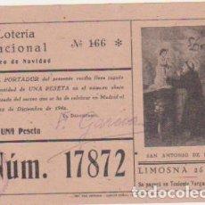 Lotería Nacional: LOTERÍA NACIONAL. PARTICIPACIÓN PARA NAVIDAD DE 1942.. Lote 128636203