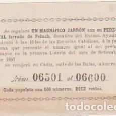 Lotería Nacional: BOLETO DE 100 NÚMEROS DE VALOR DIEZ REALES. PARA UN SORTEO QUE COINCIDA CON EL DE LA LOTERÍA NACIONA. Lote 128636239
