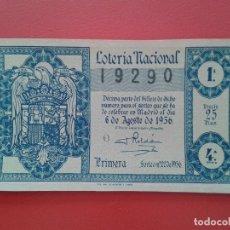 Lotería Nacional: DECIMO DE LOTERIA NACIONAL AÑO 1956 , SORTEO Nº 22. Lote 174233959