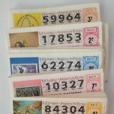 Lotteria Nationale Spagnola: LOTERIA NACIONAL. AÑOS 2010-2019 DÉCIMOS Y BILLETES. Lote 148555721