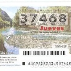 Lotería Nacional: LOTERÍA JUEVES, SORTEO Nº 9 DE 2015. RIO LUNA. BADÍA. LEÓN. REF. 10-15-9. Lote 129711583