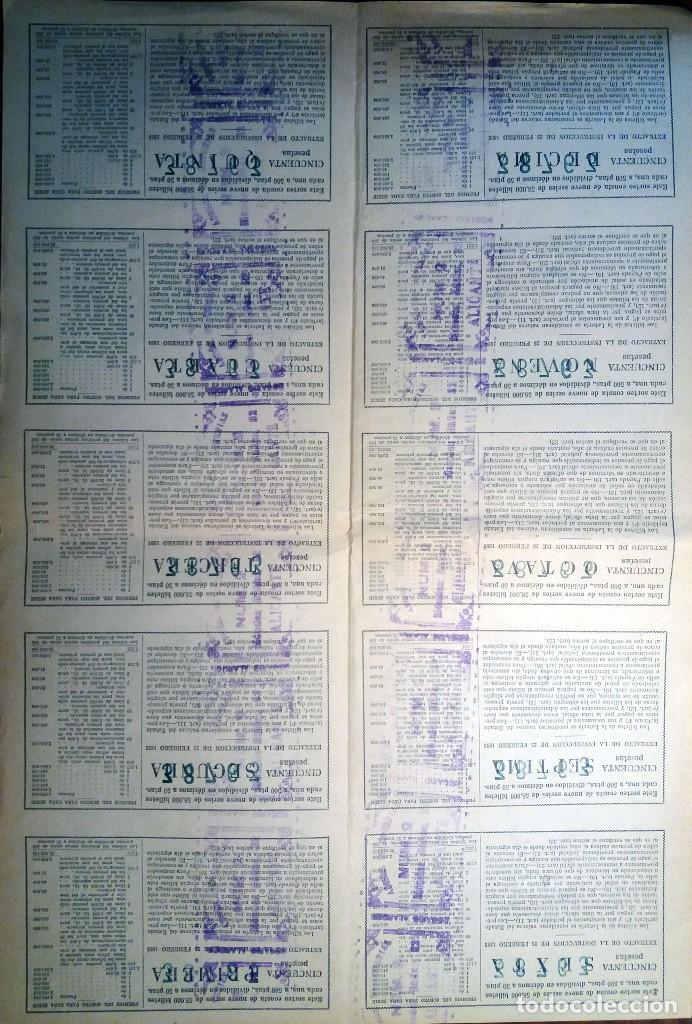 Lotería Nacional: LOTERIA NACIONAL.1956.BILLETE SEMI ENTERO DEL SORTEO Nº 1.Con 9 Décimos.EXCELENTE ESTADO, EBC - Foto 2 - 130241950