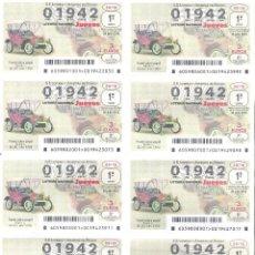 Lotería Nacional: 1 BILLETE LOTERIA NACIONAL JUEVES 26 JULIO 2018 59/18 COCHES VEHICULOS ANTIGUOS - BUICK C ( EE.UU ). Lote 131006764