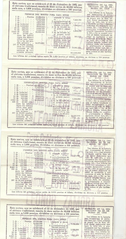 Lotería Nacional: 5 décimos de lotería nacional - 46844 - serie 3ª - fracción 6ª a 10ª - 22 diciembre 1965 - Foto 2 - 131616722