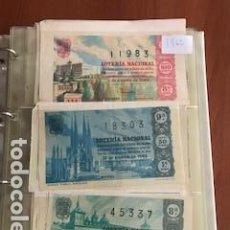 Lotería Nacional: LOTERIA AÑO COMPLETO DE 1962 CON 36 DECIMOS. Lote 131947822