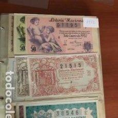 Lotería Nacional: LOTERIA AÑO COMPLETO DE 1952 CON 36 DECIMOS. Lote 132229786