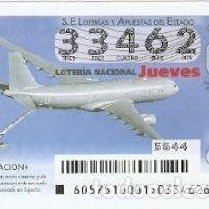 Lotería Nacional: LOTERÍA JUEVES, SORTEO Nº 57 DE 2015. AVIACIÓN. A330 MRTT. REF. 10-15-57. Lote 132339334
