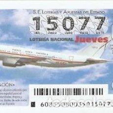 Lotería Nacional: LOTERÍA JUEVES, SORTEO Nº 85 DE 2015. AVIACIÓN A310. REF. 10-15-85. Lote 132493770