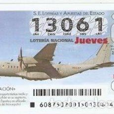 Lotería Nacional: LOTERÍA JUEVES, SORTEO Nº 87 DE 2015. AVIACIÓN C-295. REF. 10-15-87. Lote 132493886