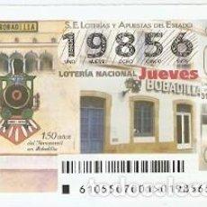 Lotería Nacional: LOTERÍA DEL JUEVES, SORTEO Nº 105 DE 2015. 150 AÑOS DEL FERROCARRIL EN BABADILLA. REF. 10-15-105. Lote 132495738