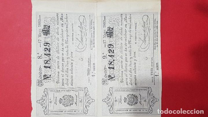 2 DÉCIMOS DE LOTERIA AÑO 1893 (Coleccionismo - Lotería Nacional)