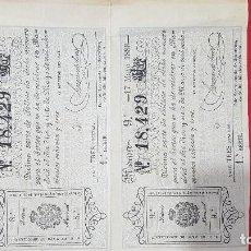 Lotería Nacional: 2 DÉCIMOS DE LOTERIA AÑO 1893. Lote 132509686