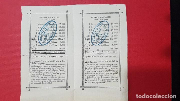 Lotería Nacional: 2 décimos de loteria año 1893 - Foto 2 - 132509686