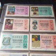 Lotería Nacional: LOTERIA NACIONAL AÑO 1974 COMPLETO, 45 DECIMOS. Lote 132740238