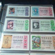 Lotería Nacional: LOTERIA NACIONAL AÑO 1975 COMPLETO, 49 DECIMOS. Lote 132740302