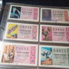 Lotería Nacional: LOTERIA NACIONAL AÑO 1976 COMPLETO, 50 DECIMOS. Lote 132740410