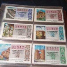 Lotería Nacional: LOTERIA NACIONAL AÑO 1977 COMPLETO, 50 DECIMOS. Lote 132740546