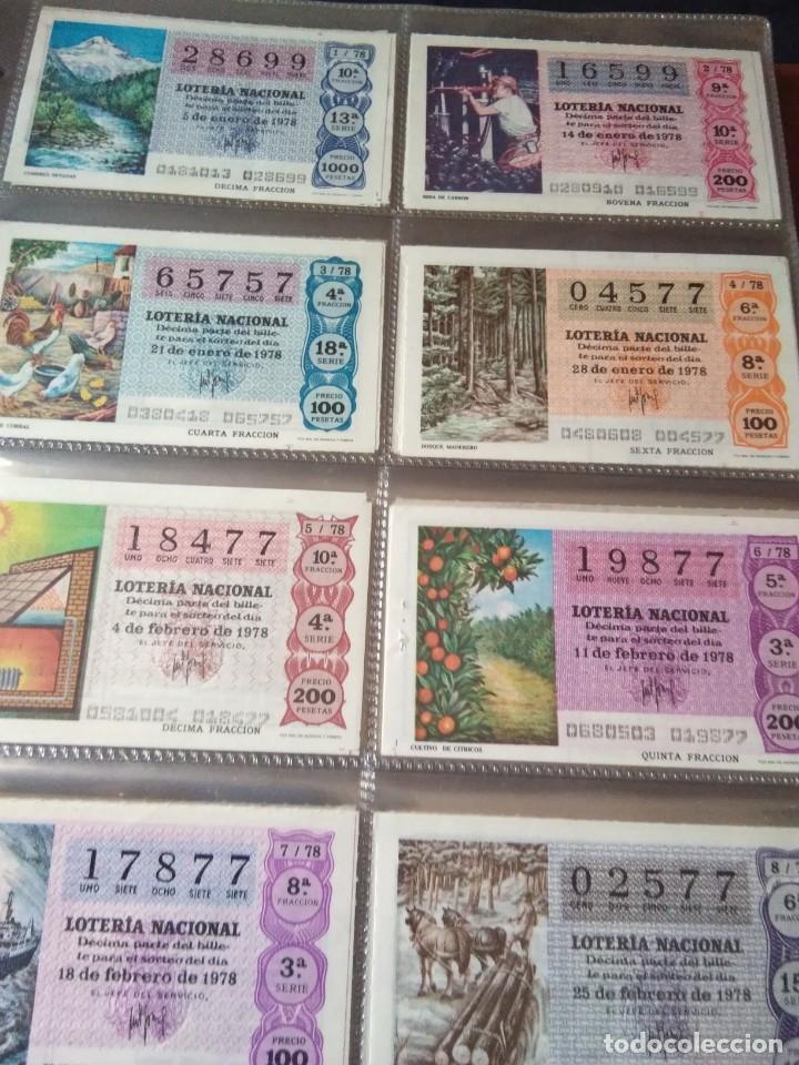 LOTERIA NACIONAL AÑO 1978 COMPLETO, 50 DECIMOS (Coleccionismo - Lotería Nacional)