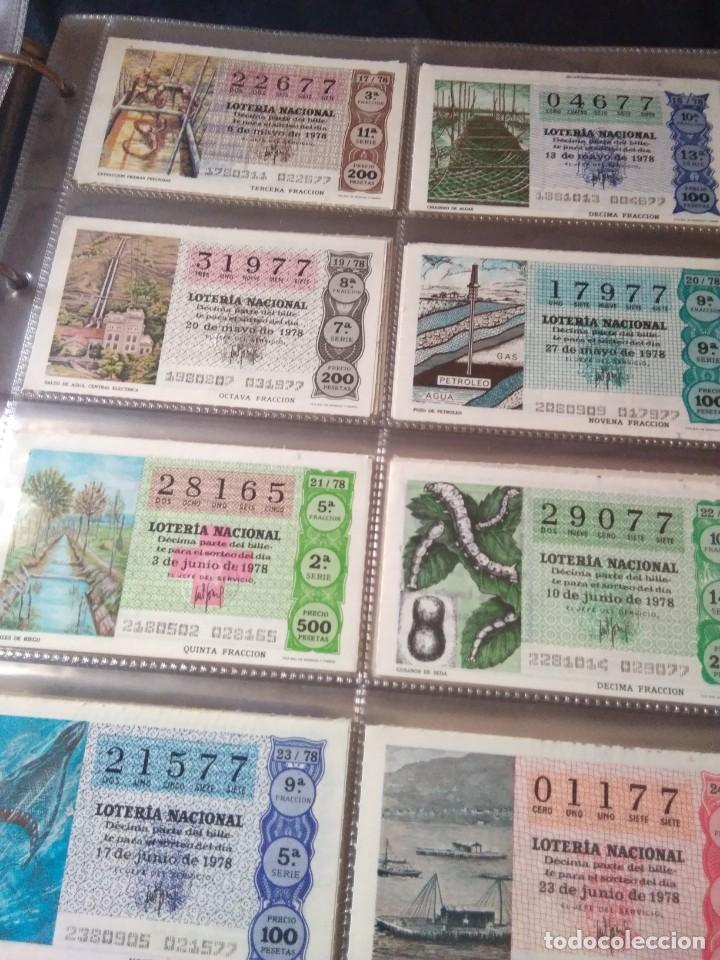 Lotería Nacional: LOTERIA NACIONAL AÑO 1978 COMPLETO, 50 DECIMOS - Foto 3 - 132740754