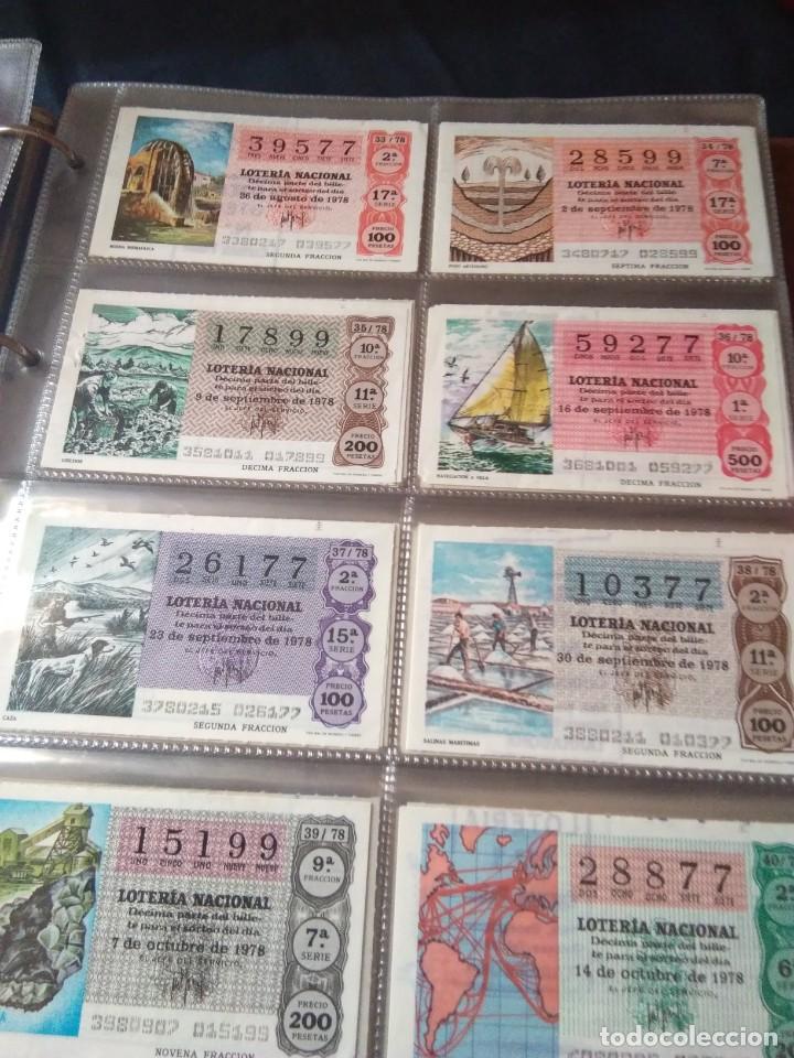 Lotería Nacional: LOTERIA NACIONAL AÑO 1978 COMPLETO, 50 DECIMOS - Foto 5 - 132740754