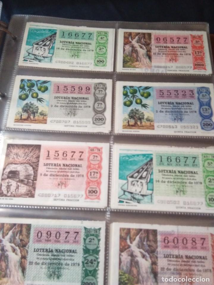 Lotería Nacional: LOTERIA NACIONAL AÑO 1978 COMPLETO, 50 DECIMOS - Foto 7 - 132740754