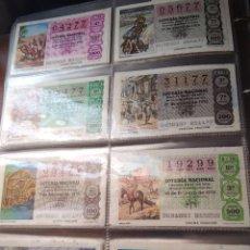 Lotería Nacional: LOTERIA NACIONAL AÑO 1979 COMPLETO, 50 DECIMOS. Lote 132740834