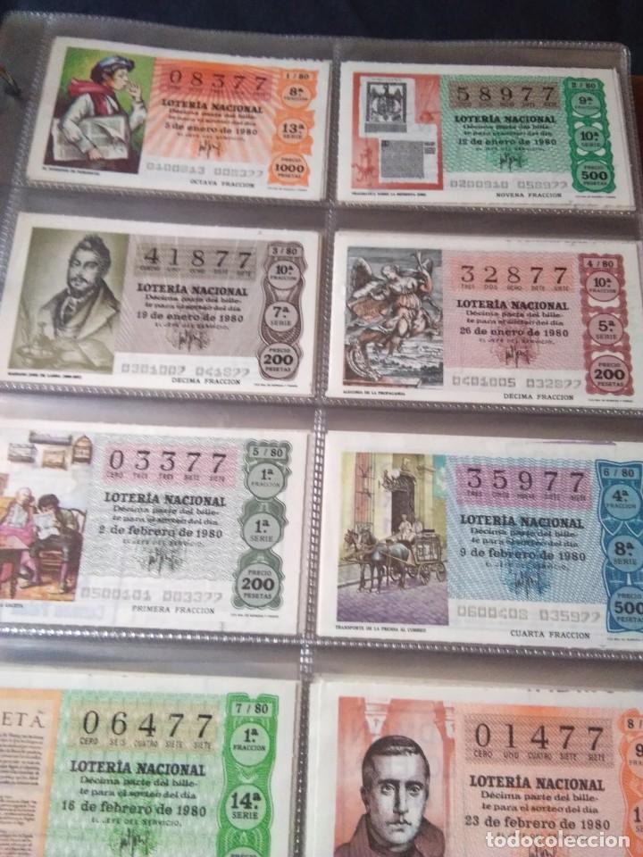 LOTERIA NACIONAL AÑO 1980 COMPLETO, 50 DECIMOS (Coleccionismo - Lotería Nacional)