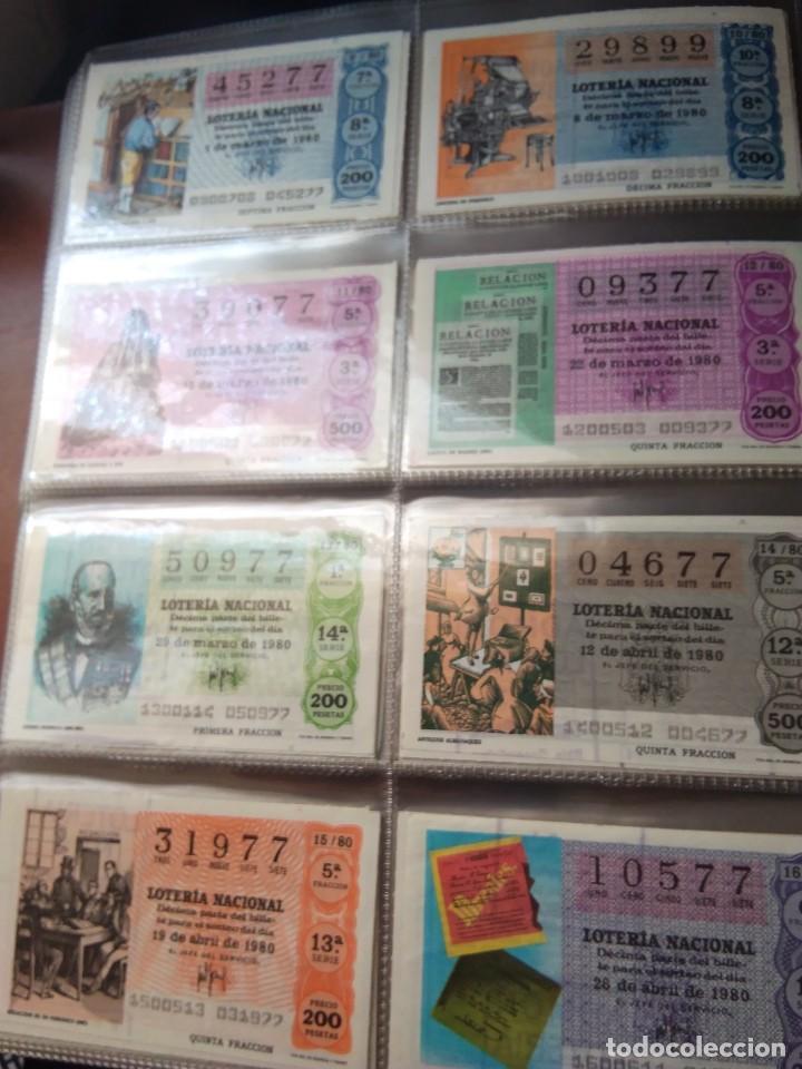 Lotería Nacional: LOTERIA NACIONAL AÑO 1980 COMPLETO, 50 DECIMOS - Foto 2 - 132740950
