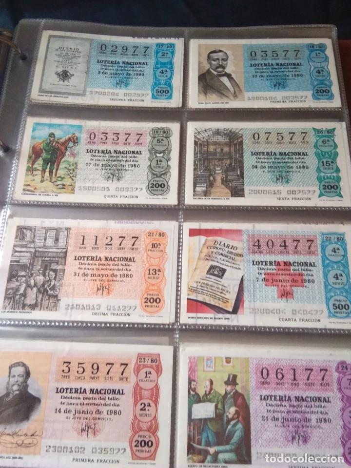 Lotería Nacional: LOTERIA NACIONAL AÑO 1980 COMPLETO, 50 DECIMOS - Foto 3 - 132740950