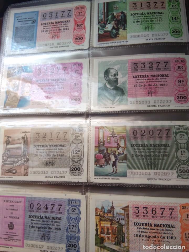 Lotería Nacional: LOTERIA NACIONAL AÑO 1980 COMPLETO, 50 DECIMOS - Foto 4 - 132740950