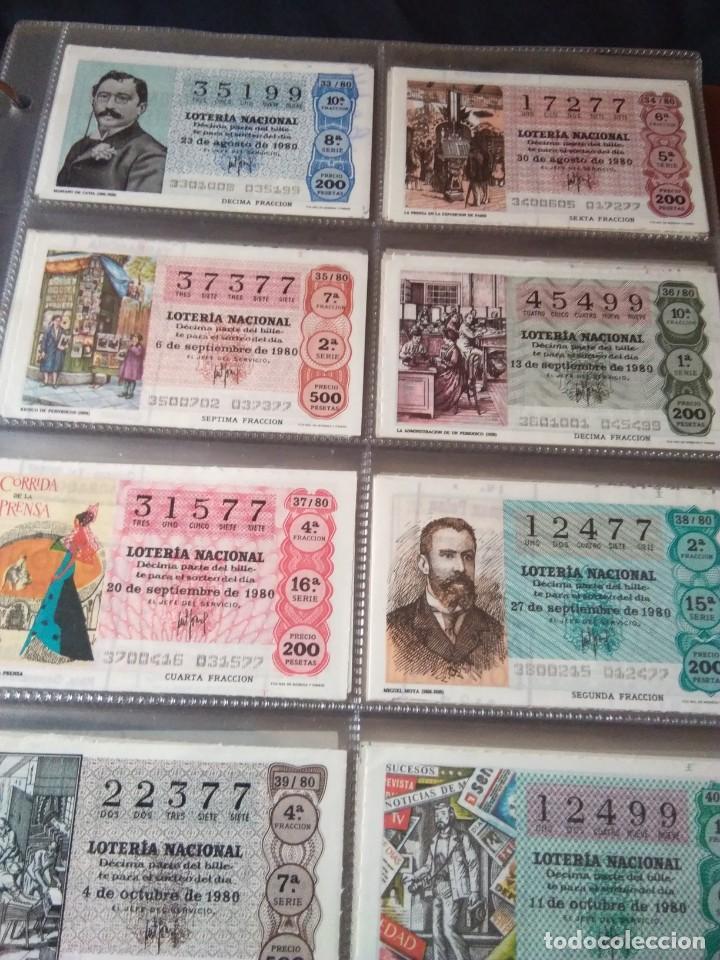 Lotería Nacional: LOTERIA NACIONAL AÑO 1980 COMPLETO, 50 DECIMOS - Foto 5 - 132740950