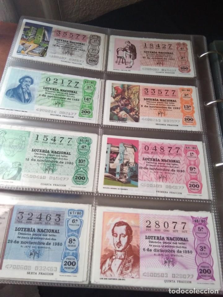Lotería Nacional: LOTERIA NACIONAL AÑO 1980 COMPLETO, 50 DECIMOS - Foto 6 - 132740950