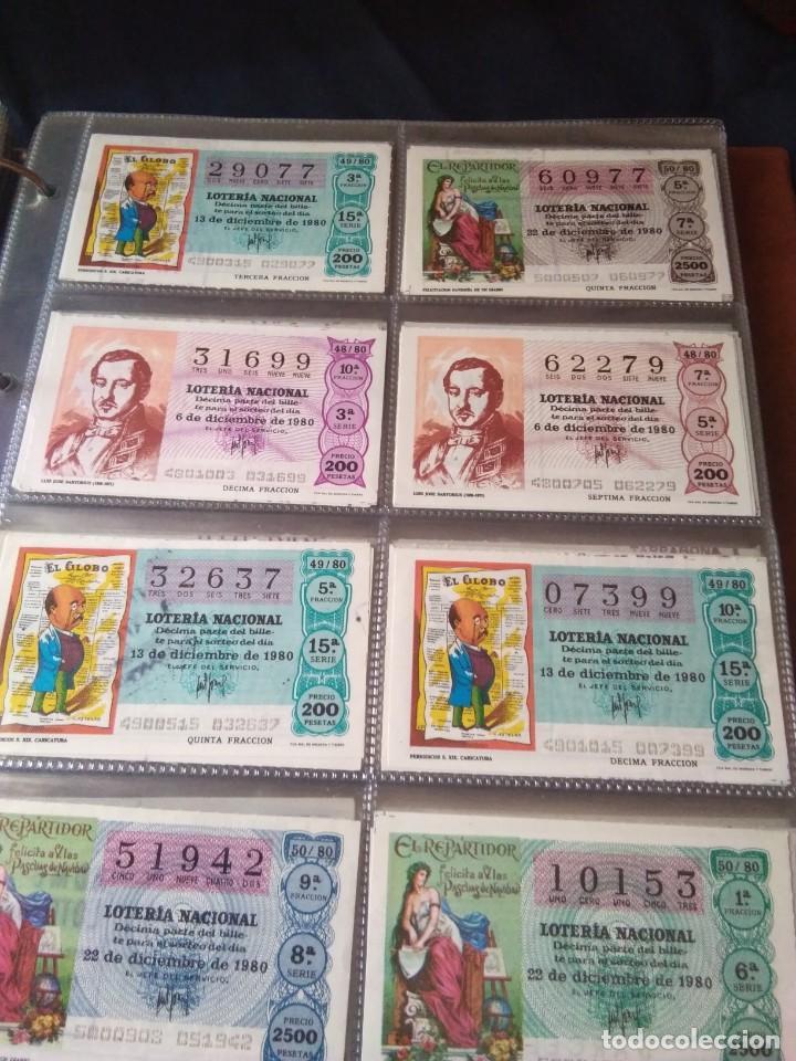 Lotería Nacional: LOTERIA NACIONAL AÑO 1980 COMPLETO, 50 DECIMOS - Foto 7 - 132740950