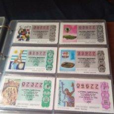 Lotería Nacional: LOTERIA NACIONAL AÑO 1982 COMPLETO, 40 DECIMOS. Lote 132741110