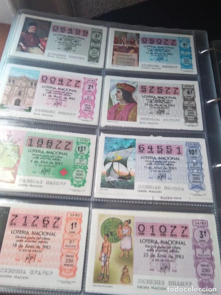 Lotería Nacional: LOTERIA NACIONAL AÑO 1983 COMPLETO, 50 DECIMOS - Foto 3 - 132741190