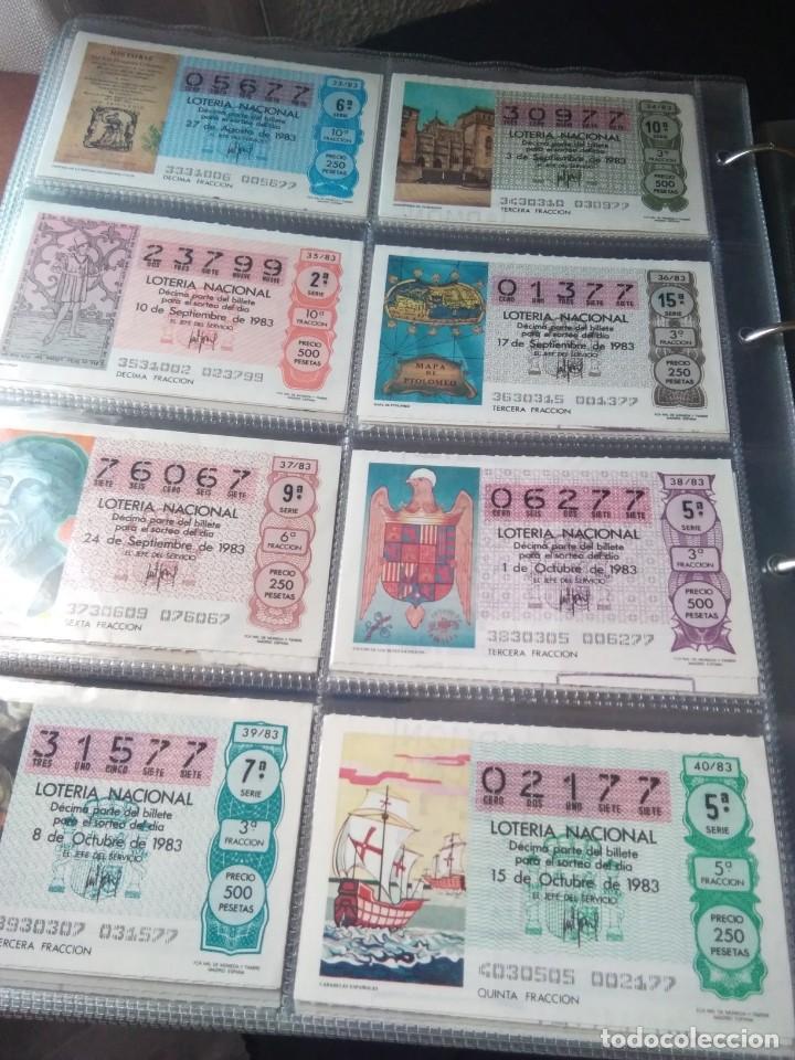Lotería Nacional: LOTERIA NACIONAL AÑO 1983 COMPLETO, 50 DECIMOS - Foto 5 - 132741190