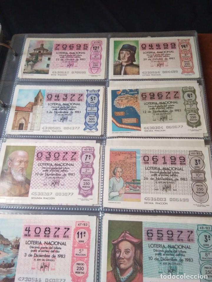 Lotería Nacional: LOTERIA NACIONAL AÑO 1983 COMPLETO, 50 DECIMOS - Foto 6 - 132741190