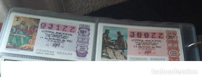 Lotería Nacional: LOTERIA NACIONAL AÑO 1983 COMPLETO, 50 DECIMOS - Foto 7 - 132741190