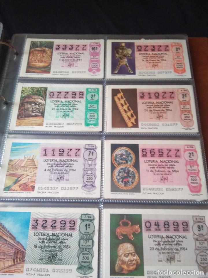 LOTERIA NACIONAL AÑO 1984 COMPLETO, 50 DECIMOS (Coleccionismo - Lotería Nacional)