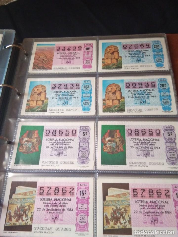 Lotería Nacional: LOTERIA NACIONAL AÑO 1984 COMPLETO, 50 DECIMOS - Foto 7 - 132741294