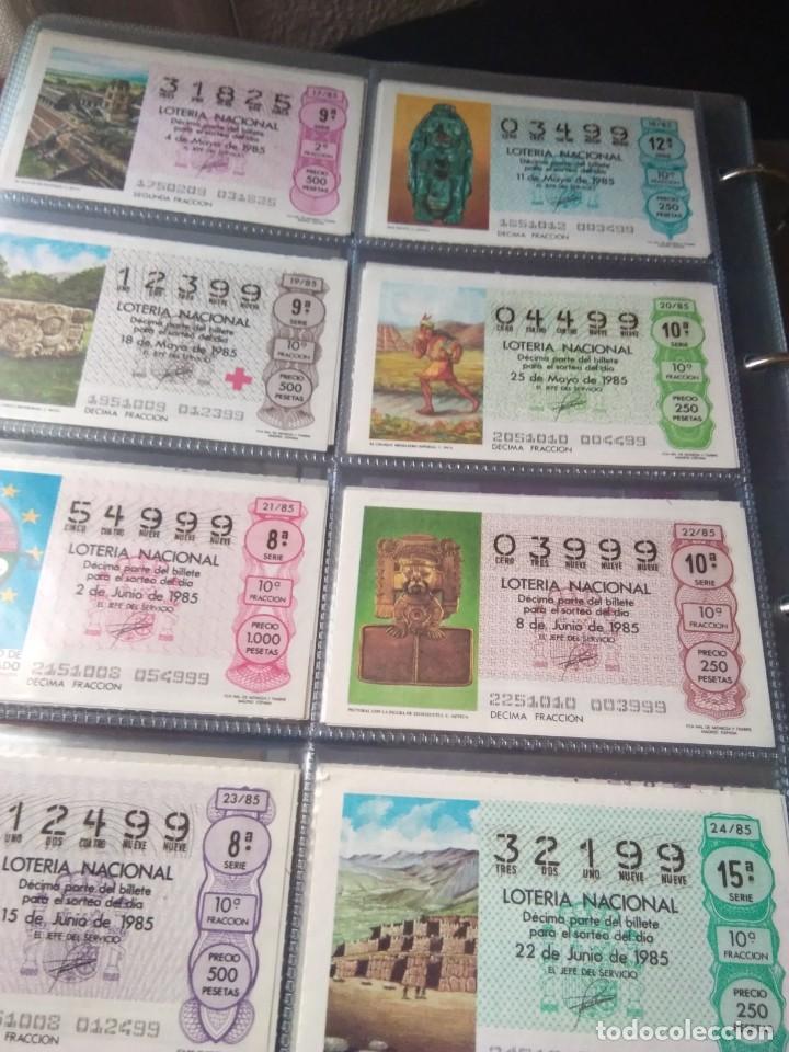 Lotería Nacional: LOTERIA NACIONAL AÑO 1985 COMPLETO 50 DÉCIMOS - Foto 3 - 132741402