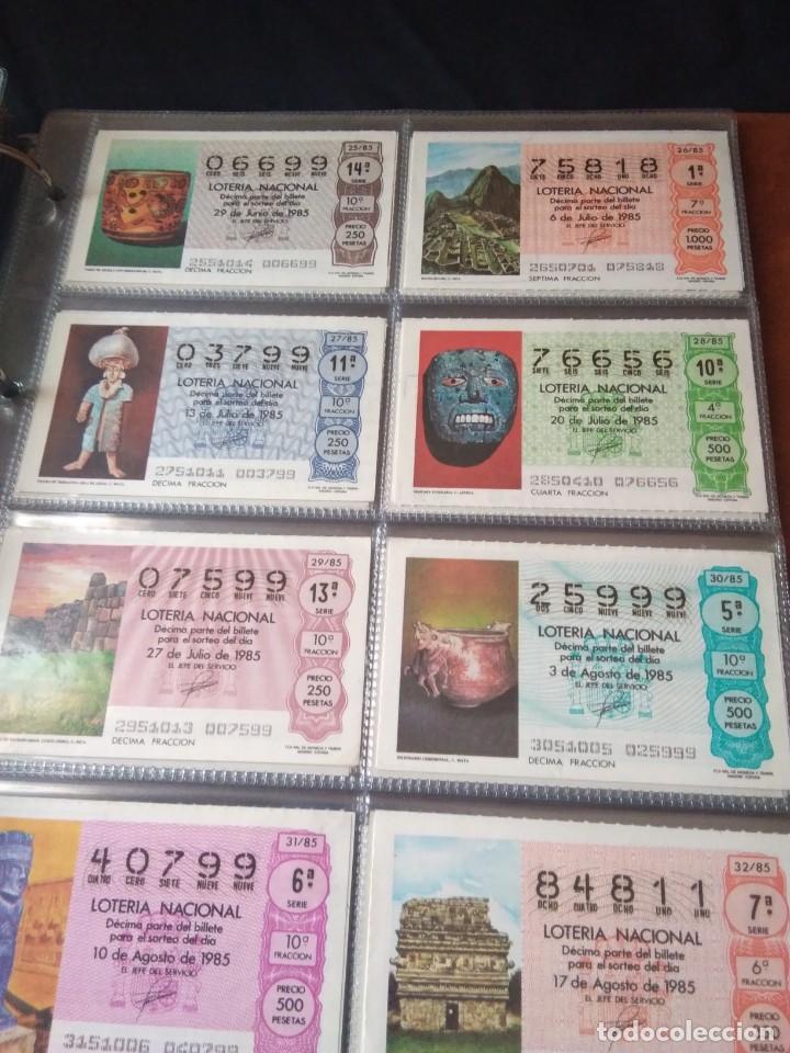 Lotería Nacional: LOTERIA NACIONAL AÑO 1985 COMPLETO 50 DÉCIMOS - Foto 4 - 132741402