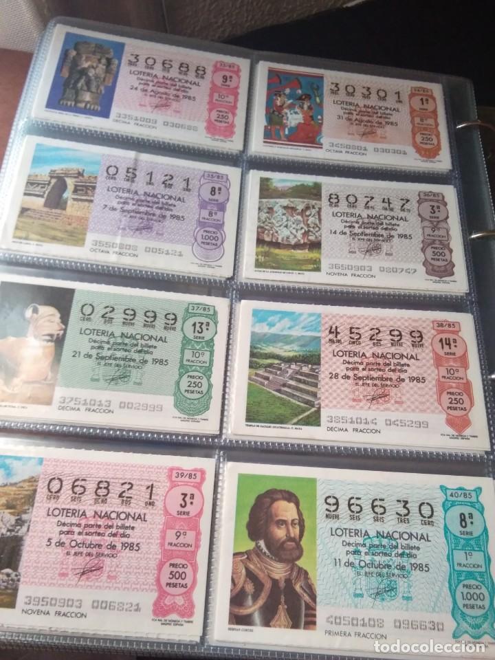 Lotería Nacional: LOTERIA NACIONAL AÑO 1985 COMPLETO 50 DÉCIMOS - Foto 5 - 132741402