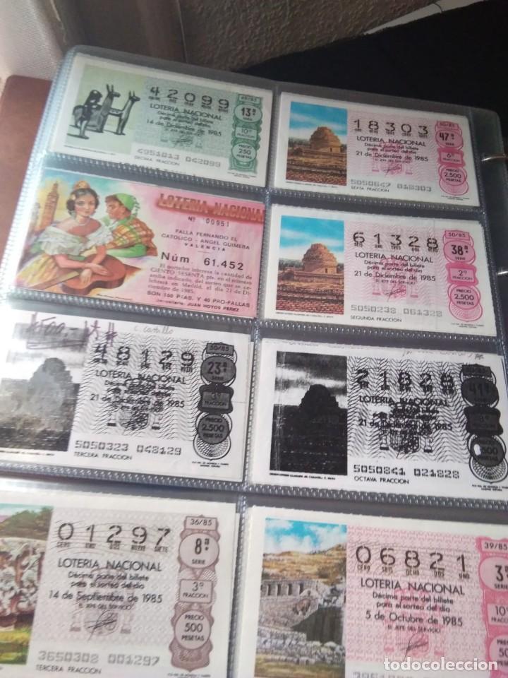 Lotería Nacional: LOTERIA NACIONAL AÑO 1985 COMPLETO 50 DÉCIMOS - Foto 7 - 132741402
