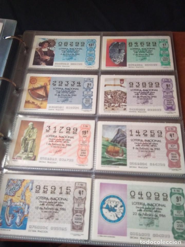 LOTERIA NACIONAL AÑO 1986 COMPLETO, 50 DECIMOS (Coleccionismo - Lotería Nacional)