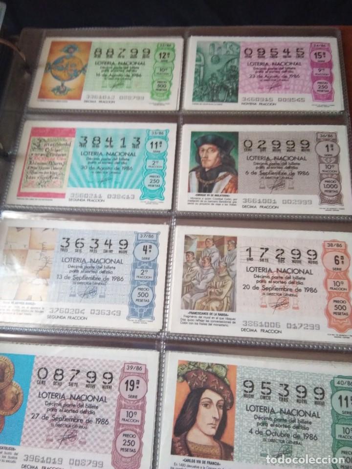 Lotería Nacional: LOTERIA NACIONAL AÑO 1986 COMPLETO, 50 DECIMOS - Foto 5 - 132741482