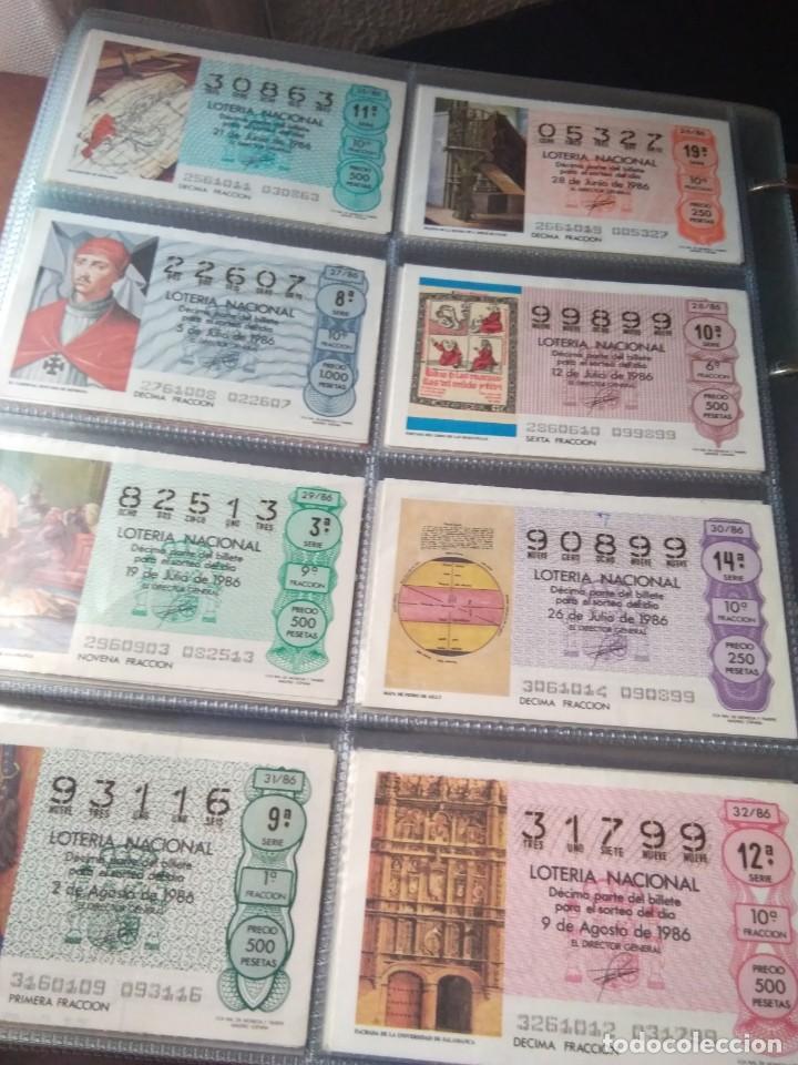 Lotería Nacional: LOTERIA NACIONAL AÑO 1986 COMPLETO, 50 DECIMOS - Foto 11 - 132741482